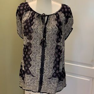 Bila blouse boho style sheer very feminine